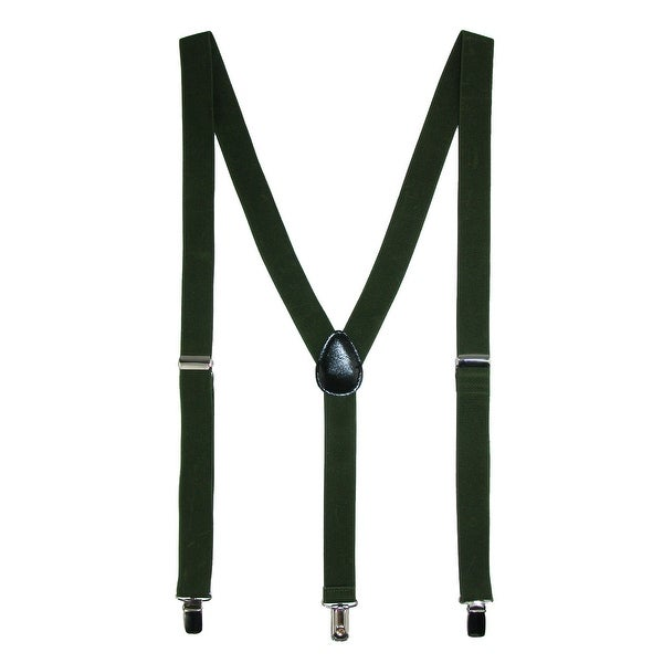 Umo Lorenzo Women's Gift Boxed Elastic Slim 1 Inch Wide Clip-On Suspenders - One size
