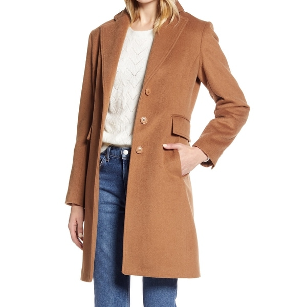 Halogen Womens Coats Beige Size 16 Notched-Lapel Single-Breasted. Opens flyout.