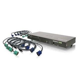 Iogear 8-Port Usb Ps/2 Combo Vga Kvmp Switch With Usb Kvm Cables, Gcs1808kitu
