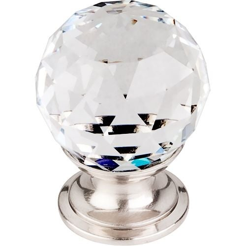 Top Knobs TK125 Crystal 1-1/8 Inch Diameter Round Cabinet Knob