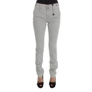 Costume National Costume National Gray Cotton Blend Super Slim Fit Jeans - w26
