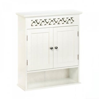 Ivy Trellis Wall Cabinet - White