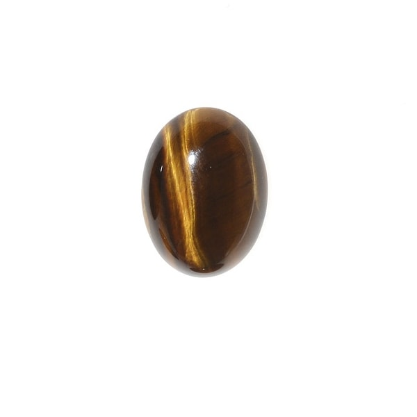 Tiger Eye Gemstone Oval Flat-Back Cabochons 14x10mm (4 Pieces)