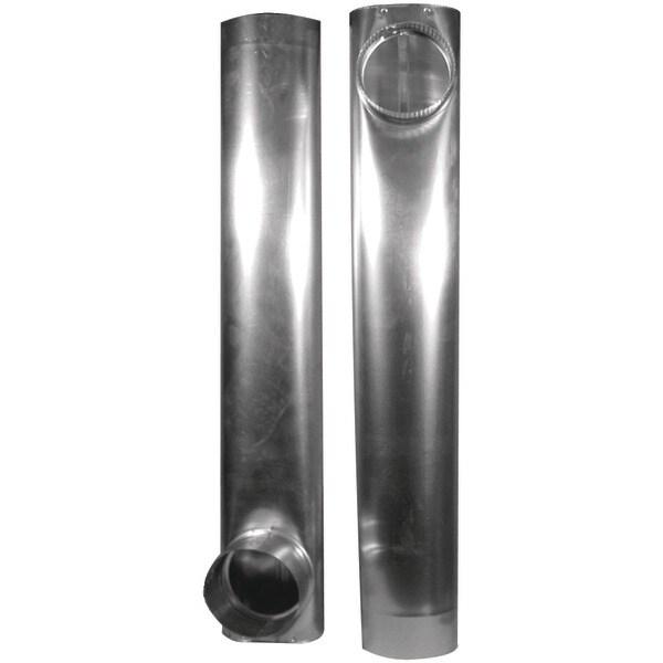"Deflecto Daf2 Skinny Duct(Tm) Telescoping Aluminum Vent (27""- 48"")"