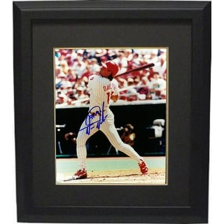 Darren Daulton signed Philadelphia Phillies 8x10 Photo Custom Framed (left side view batting)