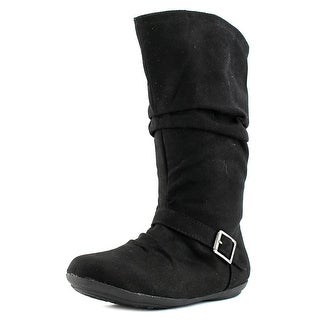Rampage Girls Britina Youth Round Toe Canvas Knee High Boot