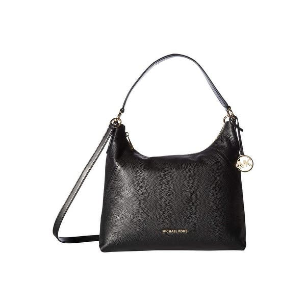 Shop Black Friday Deals On Michael Michael Kors Aria Large Shoulder Bag Black Overstock 31311242