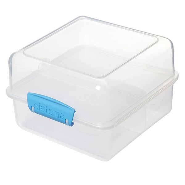 Sistema 21731 Klip It Lunch Cube To Go Food Container, Clear
