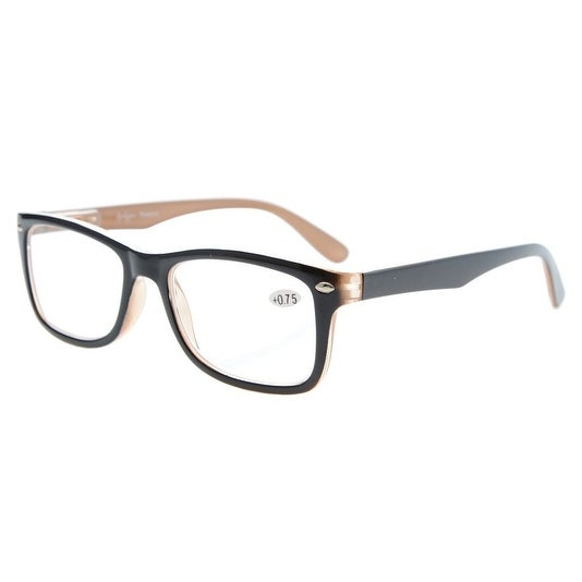 63843edb9b64 Shop Eyekepper Readers Spring-Hinges Quality Classic Vintage Style Reading  Glasses Black-Brown +4.0 - Free Shipping On Orders Over  45 - Overstock -  ...