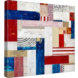 """PTM Images 9-97893  PTM Canvas Collection 12"""" x 12"""" - """"Americana 4"""" Giclee American Art Print on Canvas"""