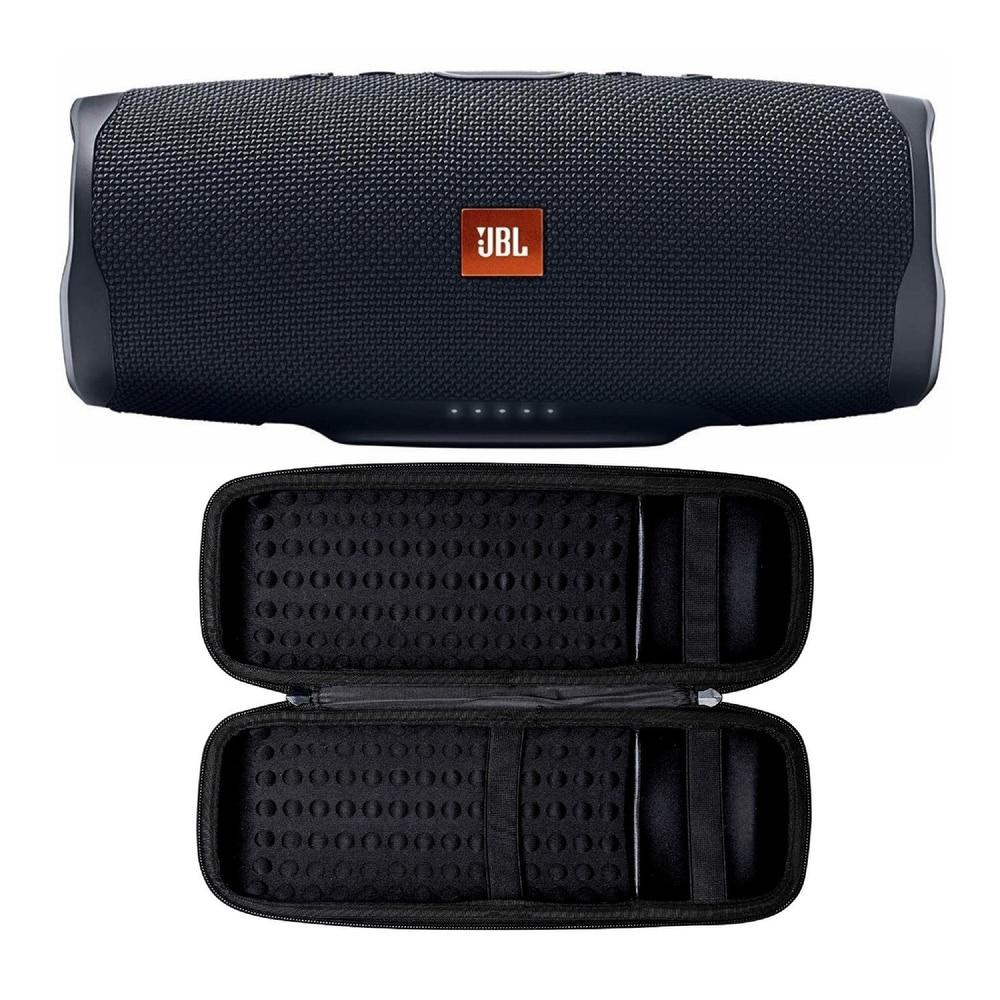 JBL Charge 4 Portable Bluetooth Speaker (Black) with Hard Case (Black)