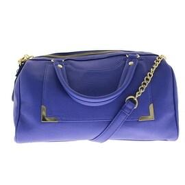 Olivia + Joy Womens Melialuna Faux Leather Convertible Satchel Handbag - ceramic blue - Medium