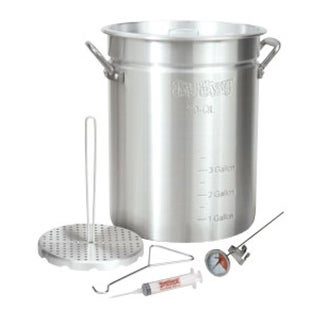 Bayou Classic 3025 30 Quart Turkey Fryer Kit - Silver
