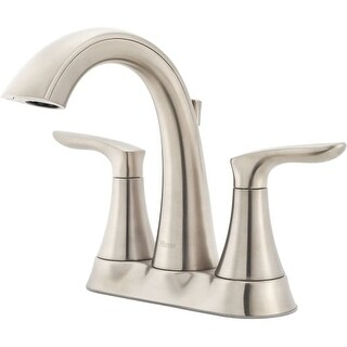 Pfister LG48-WR0 Weller 1.2 GPM Centerset Bathroom Faucet - Includes Metal Pop-Up Drain Assembly