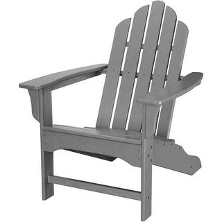 Hanover Outdoor HVLNA10GY All-Weather Contoured Adirondack Chair - Grey