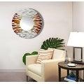 Statements2000 Silver / Brown Metal Decorative Wall-Mounted Mirror by Jon Allen - Mirror 107 - Thumbnail 15