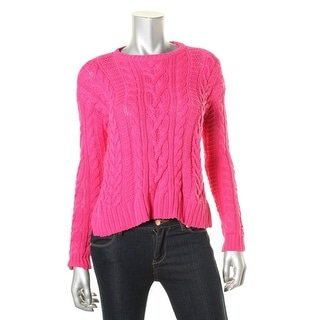 Lauren Ralph Lauren Womens Petites Cable Knit Long Sleeves Pullover Sweater - pxs
