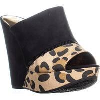 Carlos by Carlos Santana Mercury Wedge Sandals, Natural/Leopard
