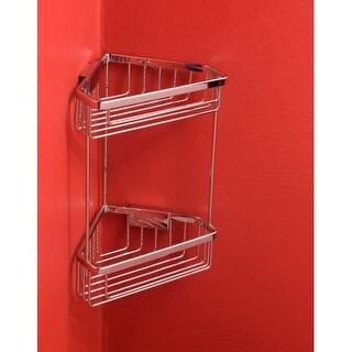 "Bissonnet 644010 City 9-15/16"" Double Tier Corner Shower Basket"