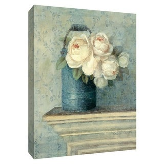 """PTM Images 9-154566  PTM Canvas Collection 10"""" x 8"""" - """"June Roses I"""" Giclee Roses Art Print on Canvas"""