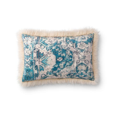 Alexander Home Elsa Floral Boho Lake House Throw Pillow