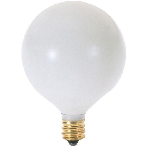 Satco S3826 Candelabra Base Globe Light Bulb 40 Watt White Free Shipping On Orders Over 45 17918523