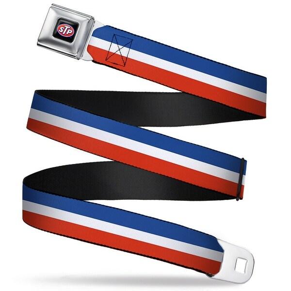 Stp Logo Full Color Stp Stripe Blue White Red Webbing Seatbelt Belt Fashion Seatbelt Belt