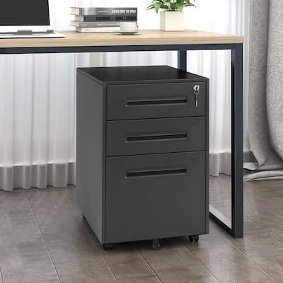 Superday 3-drawer Rolling Metal Locking File Cabinet (B)