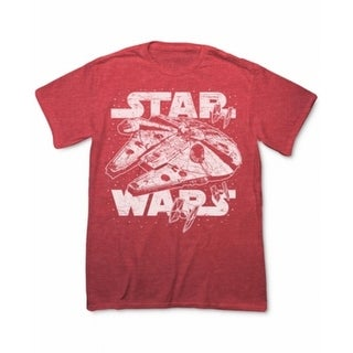 STAR WARS NEW Red Men Size Medium M Star Wars Hyperdrive Graphic Tee T-Shirt 111