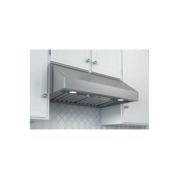 Zephyr AK7000BS 650 CFM 30 Inch Wide Under Cabinet Range Hood With  Centrifugal Blower And Airflow