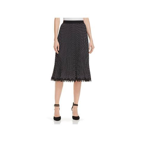 Kobi Halperin Womens Lottie A-Line Skirt Embroidered Polka Dot