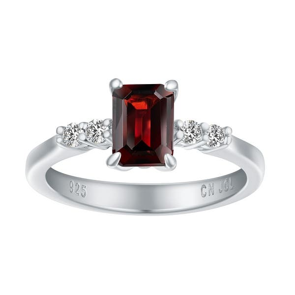 BIRTHSTONE RINGS HANDCRAFTED WITH .925 STERLING AND GENUINE GEMSTONES
