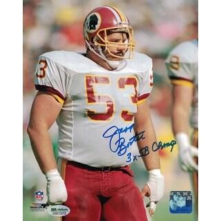 Jeff Bostic Autographed Washington Redskins 8x10 Photo Solo 3x Champ SGC