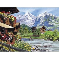 Paint By Number Kit 12''X16''-Mountain Scene