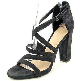 Pour La Victoire Womens CARLA Leather Open Toe Ankle Strap Classic Pumps