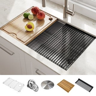 Link to KRAUS Kore Workstation Undermount Stainless Steel Kitchen Sink Similar Items in Sinks