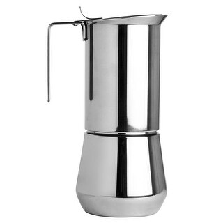 ILSA Turbo Express Stainless Steel Espresso Maker - Measures 6 Cups