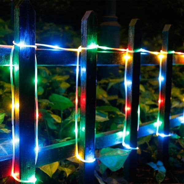 2-way Operated Solar/Power Controller Waterproof 42.6FT 100LED Rope Light w/ 8 Model RGB
