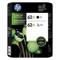 HP 62XL High Yield Ink Cartridge, Black/Color 2 pack C2P07AN