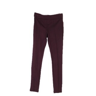 Style & Co Petite Deep Plum Ponte Casual Skinny Leg Pants PP