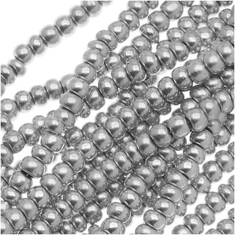 Czech Seed Beads 11/0 Silver Supra Metallic (1 Hank)