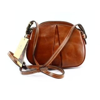 Patricia Nash NEW Brown Vegetan Leather Chania Crossbody Bag Purse
