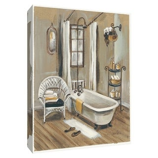 """PTM Images 9-154382  PTM Canvas Collection 10"""" x 8"""" - """"French Bath II"""" Giclee Bathroom Art Print on Canvas"""