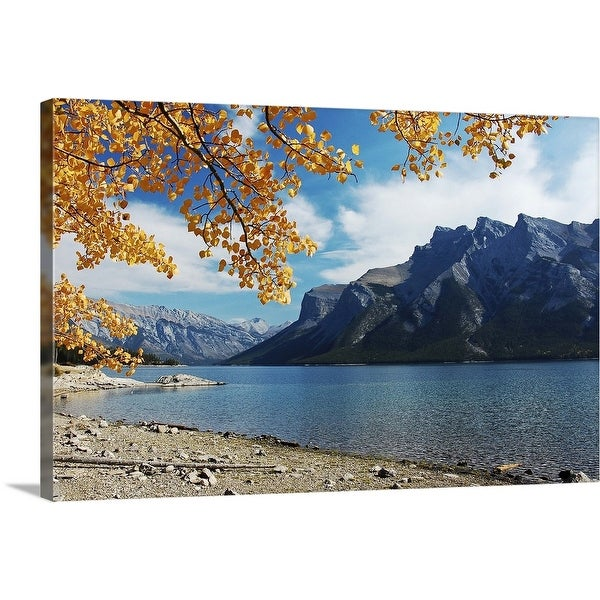 """Lake Minnewanka at Banff, Canada"" Canvas Wall Art"