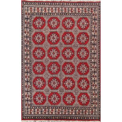 "Vintage Elephant Feet Balouch Oriental Area Rug Handmade Wool Carpet - 5'3"" x 7'9"""