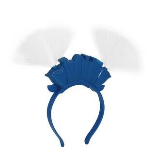 Unique Bargains Christmas Gift Red Blue 2 LEDs Light Crown Detailing Handband Blue for Kids