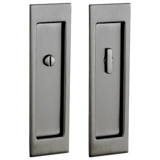 Baldwin PD005.PRIV Santa Monica Privacy Pocket Door Set with Door Pull from the Estate Collection