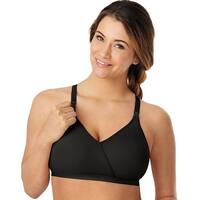 Playtex Nursing Seamless Wirefree Bra with Shaping Foam Cups - Size - 3XL - Color - Black