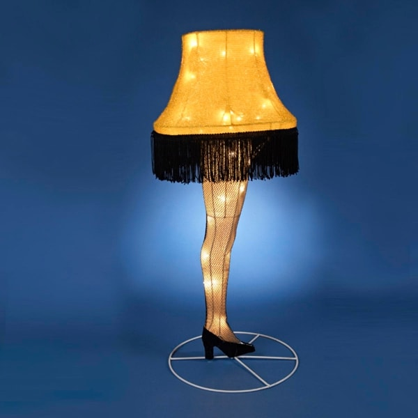 """28"""" A Christmas Story Three Dimensional Leg Lamp Lighted Christmas Outdoor Decoration"""