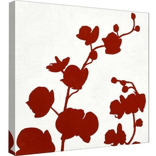 "PTM Images 9-98769  PTM Canvas Collection 12"" x 12"" - ""Red Orchid"" Giclee Orchids Art Print on Canvas"